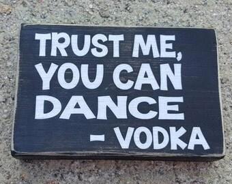 """5 x 7 inch Wooden """"Vodka"""" Shelf Sitter"""