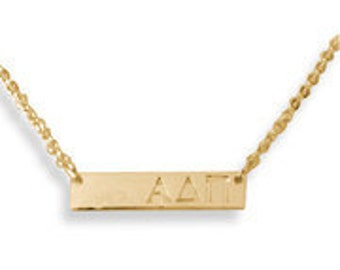 Sorority Bar Necklace -- Makes a great gift or stocking stuffer!