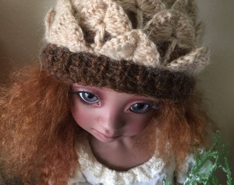 Cashmere Pine Cone hat for bjd