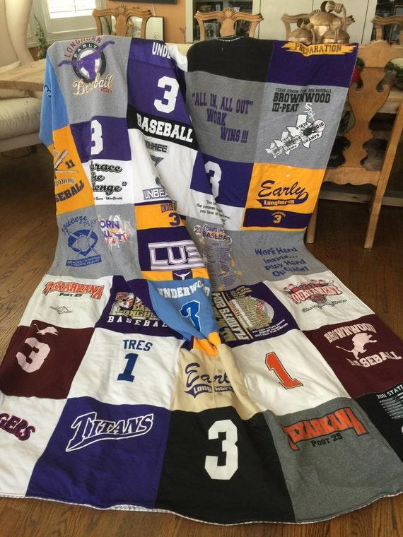 Custom, Handmade,  T-Shirt Blanket, Quilt, Memory Blanket