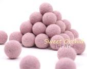 Felt Balls // DIY Garland // diy Mobile // diy Necklace // Felt Poms // Wool Beads // SWEET ORCHID // 1 cm 1.5 cm 2 cm 2.5 cm 3 cm 4.0 cm