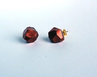 ROCKS EARRINGS - small rocks in copper tone