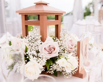 Wooden Lantern, Wedding Centerpiece, Candle Holder, Table Center Piece, Home Decor, Wedding Decor