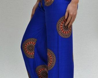 SALE Aladdin Pants in Printed Deep Blue