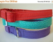 """Sale 50% Off Polka Dot Dog Collar - Red and White, Turquoise and White & Purple and White - """"Tiny Polka Dot"""""""