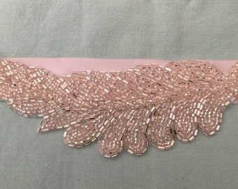 25% Off Beaded Silver Wing Hairband/ belt sash