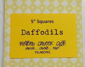 "Daffodils 5"" Squares (YEL40CP01)"