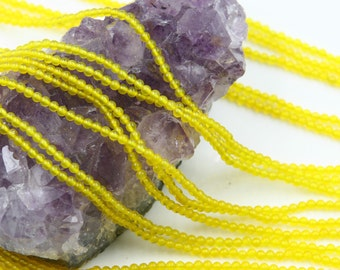 Lot of 5 strands 2mm Yellow Agate (N) Loose Spacer Beads Round 15.5 inch strand (BD5956)
