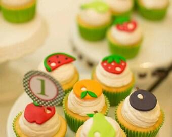 Hungry Caterpillar Cupcake Topper