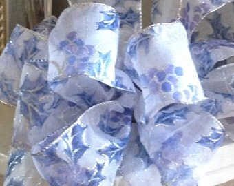Silver Periwinkle Blue Bow