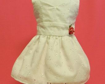 White Eyelet Cotton Sundress For 18 Inch Doll Like The American Girl