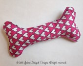 Boutique Squeak Dog Toy - Hearts and PolkaDots