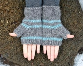 Icelandic Fingerless Mittens - Handmade with 100% Pure Icelandic Wool