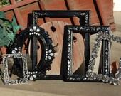 Set Of 5 Picture Frames - Shabby Chic Decor - Picture Frame Set - Ornate Frame