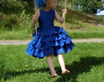 Royal blue flower girl dress.Blue flower girl dress.Blue flower girl dress toddler.Flower girl ruffle dress.Special occasion dresses.