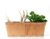 Vintage Wood Splint Berry Basket - Vintage Wooden Market Basket - Vintage Wooden Gathering Basket - Garden Decor