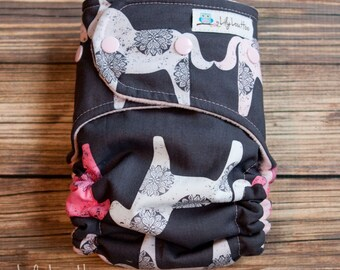 "AI2 Cloth Diaper- ""Lace Ponies"""