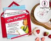 Retro Housewife Bridal Shower Invitation - PERFECT HOUSEWIFE Printable
