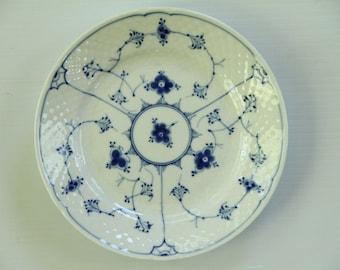 Bing and Grondahl Blue Traditional Copenhagen Porcelain Dessert/Bread  Dish Plate Blue White Flowers Hand Painted Denmark