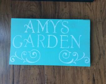 Custom garden sign