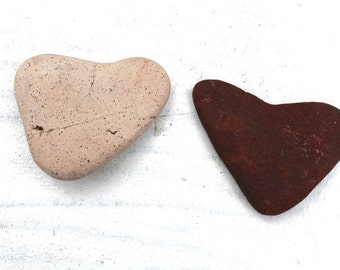red and white heart shaped beach pebbles sea rocks stones home decor jewelry supply art&craft supplies  (77)