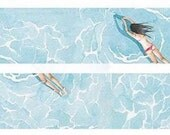 LAST ONE- 1 Roll of Limited Edition Washi Tape: Swimmer