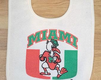 University Of Miami Hurricanes Baby Bib Deadstock