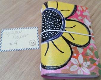 Flowers Yellow #4 Kraftex Journal Little
