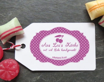 Stamp homemade jam polka dots