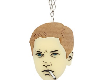 Stand By Me - River Phoenix necklace - laser cut acrylic and wood