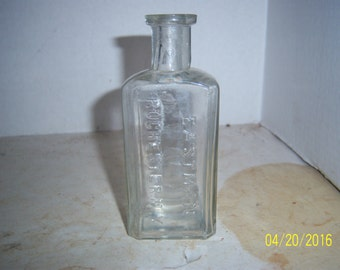 """1900's Roger & Gallet Paris Clear Perfume Cologne or toilet water bottle 6 7/8"""" No 2"""