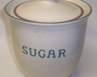 Pfaltzgraff JUNIPER SUGAR Kitchen Canister with Lid