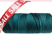 Waxed Cord, Macrame Thread Linhasita Cord - 16 yards, String for beading, Macrame Cord Supplies - Teal