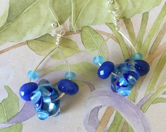 Lamp-work Bead Earrings
