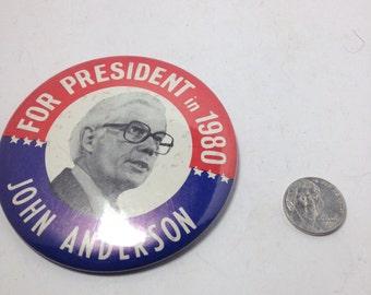 Vintage political Button : john anderson