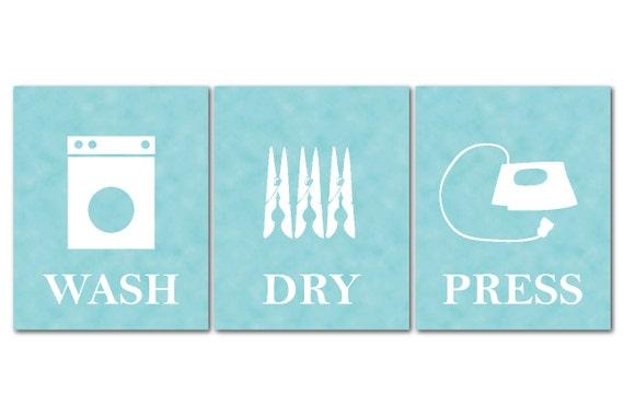 Laundry Room Art Wash Dry Press Laundry Room Art Set Of Three Prints
