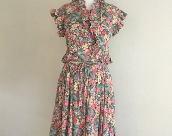 Victor Costa Floral Dress