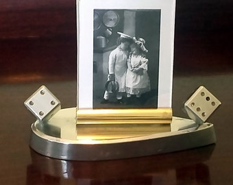 French Art Deco Antique Photo Picture Frame with DICE in Good Condition - Amazing Example of French Art Deco Design