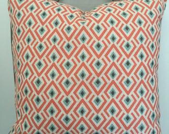Pillow Cover, Throw Pillow, Decorative Pillow Cover, Cushion, Pillow Case, Sofa Pillow, Coral Linen