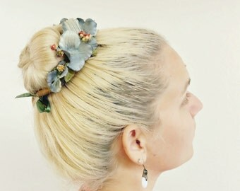 The Helena Bun Belt | floral wreath | hair bun crown | ballerina bun | boho style | hippie chic | bun crown | flower crown for your hair bun