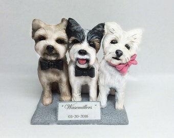 Custom Pet Sculptures Cake Toppers of Your Pet from Photos and Ideas