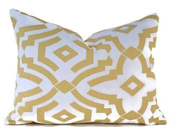 CLEARANCE SALE Lumbar Pillow Premier Prints Chenille Saffron Yellow