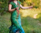 Eclectus dress - Felted dress - Woodland fairy dress