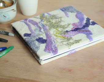 Felted journal Art journal Felt notebook Felted album Soft diary Pixie album Wedding album Wool cover book Wool sketchbook