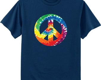 Tie Dye peace sign shirt