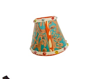 Small Lamp Shades, Retro Lamp Shade, Unique Lamp Shades, Designer Lamp Shades, Boho Lamp Shade, Bohemian Decor, Boho