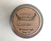 LAVENDER //  Soy Wax Candle // 4oz Mini Travel Tin