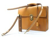 Classic London Tan and Calf Suede bridle Leather Briefcase