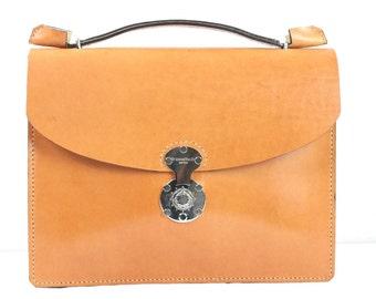 "16"" bridle leather Laptop Bag, Men's Leather Briefcase, Handbag, Messenger, macbook, computer, satchel, Tablet Ipad, computer bags for men"