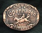 Copenhagen Snuff Copper Brush Belt Buckle New/Unused